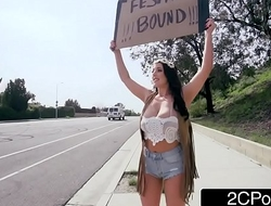 Hippie Angela White Offers Her Tight Ass For A Ride