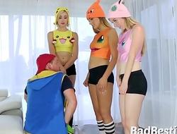 Costumed Teens Dicked in POV