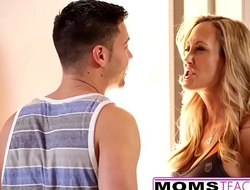 MomsTeachSex - Hot Yoga Mom Fucks Son And Teen GF