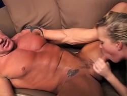 Sasha Knox &amp_ rough muscleman Lee Stone - Very hard fucking