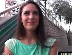 Teens Love Money - Spanish Waitress Fucks For Cash with Carolina Abril clip-01