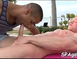Hot massage for homo man