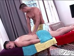 Explicit gay oral job