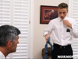 Mormon Twink Inspected And Fucked By Church President Daddy