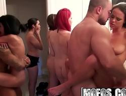 Mofos - Real Slut Party - Bathroom Booby Bonanza starring Rahyndee James and Angel Del Rey