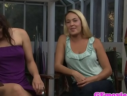 Strapon lesbians interviewed before action