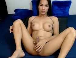 Hot Shemale Touching Herself