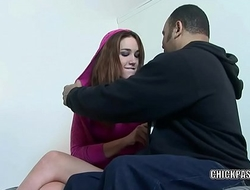 Horny teen Steph is getting nailed with a big black cock