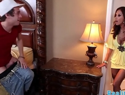 Glamorous stepmom screwed in both holes
