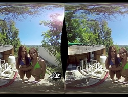 WankzVR - Pool Pump ft. Alice Coxxx and Davina Davis