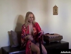 Ultimate MILF Julia Ann is stripping &amp_ trying on lingerie!