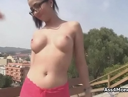Bigtit Spanish amateur fucks in public