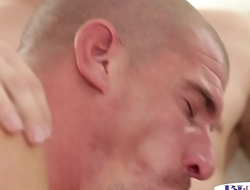 Cum tasting jock licks pussy and sucks dick