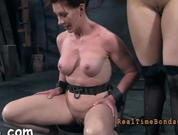 Tormenting babe'_s cunt with toy