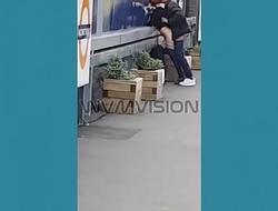 Hackney Downs  man clarting fucking at train station WVMVISION