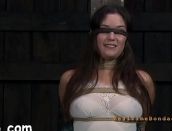 Suffocating mask for lusty gal